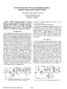 Forward converter with current-doubler rectifier: analysis, design, and ...