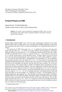 Forward Physics at CMS - EPJ Web of Conferences