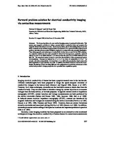 Forward problem solution for electrical conductivity ... - Semantic Scholar