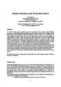 fossil energy and food security - Holon