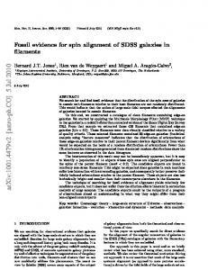 Fossil evidence for spin alignment of SDSS galaxies in filaments