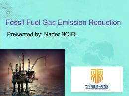 Fossil Fuel Gas Emission Reduction
