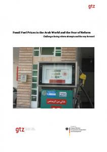 Fossil Fuel Prices in the Arab World and the Fear of Reform - GIZ