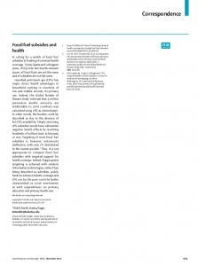 Fossil fuel subsidies and health - The Lancet
