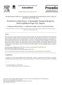 Fossil Fuel to Solar Power: A Sustainable Technical Design for ... - Core
