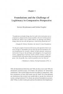 Foundations and the Challenge of Legitimacy in