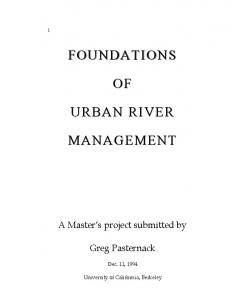 foundations foundations of urban river urban river