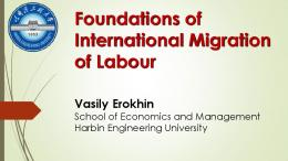 Foundations of International Migration of Labour
