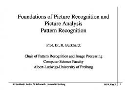 Foundations of Picture Recognition and Picture Analysis Pattern ...