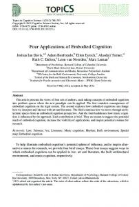Four Applications of Embodied Cognition - Semantic Scholar