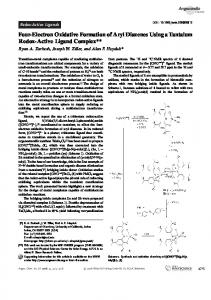 Four-Electron Oxidative Formation of Aryl Diazenes Using a Tantalum ...
