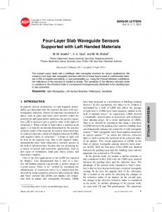 Four-Layer Slab Waveguide Sensors Supported with