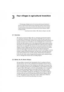 Four villages in agricultural transition