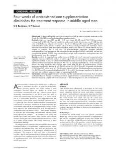 Four weeks of androstenedione supplementation diminishes the ...
