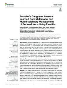 Fournier's Gangrene: Lessons Learned from