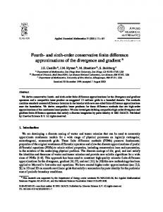 Fourth- and sixth-order conservative finite difference ... - (CNLS) @ LANL