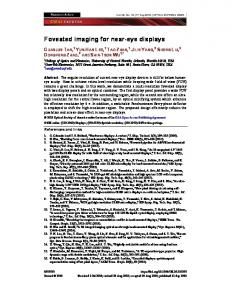 Foveated imaging for near-eye displays - OSA Publishing