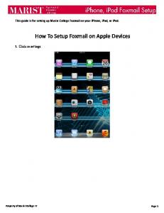 Foxmail Setup Guide for iPad and iPhone - Marist College