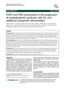 FOXP1 and TP63 involvement in the progression of ... - Springer Link