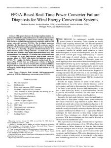 FPGA-Based Real-Time Power Converter Failure Diagnosis for Wind ...
