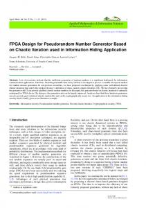 FPGA Design for Pseudorandom Number Generator ...