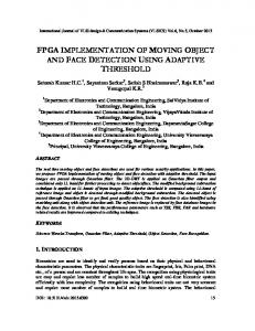 FPGA Implementation of Moving Object and ... - Aircc Digital Library