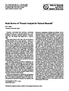Fractal Analysis for Natural Hazards - Nat. Hazards Earth Syst. Sci.