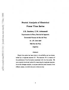 Fractal Analysis of Electrical Power Time Series