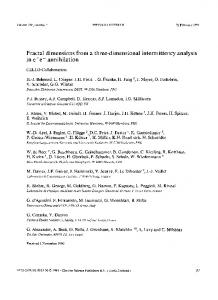 Fractal dimensions from a three-dimensional ... - ScienceDirect.com