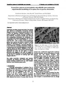 Fractal flow patterns in hydrophobic microfluidic pore networks - arXiv