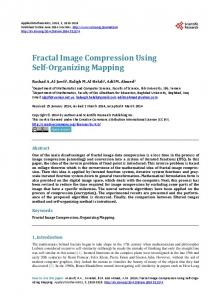 Fractal Image Compression Using Self-Organizing