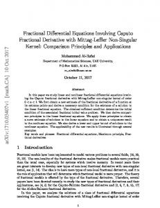 Fractional Differential Equations Involving Caputo Fractional
