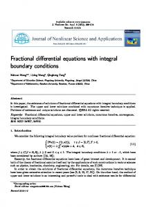 Fractional differential equations with integral ... - Semantic Scholar