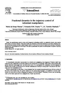 Fractional dynamics in the trajectory control of ... - Semantic Scholar