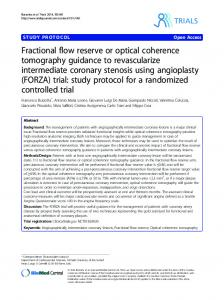 Fractional flow reserve or optical coherence ... - BioMedSearch