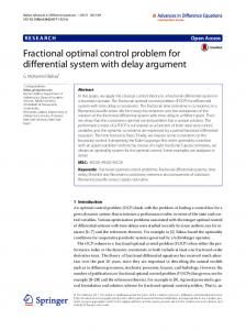 Fractional optimal control problem for differential system with ... - Core