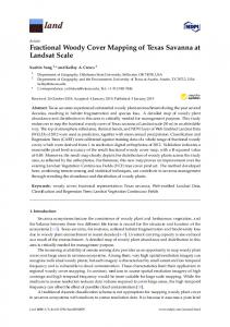 Fractional Woody Cover Mapping of Texas Savanna at ... - MDPI