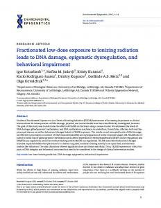 Fractionated low-dose exposure to ionizing radiation ... - Oxford Journals