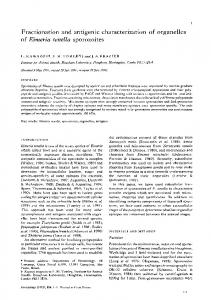 Fractionation and antigenic characterization of ...