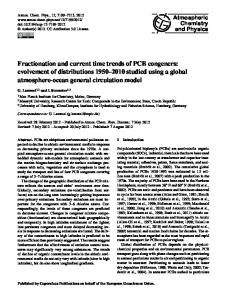 Fractionation and current time trends of PCB ... - Atmos. Chem. Phys