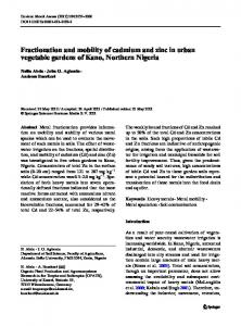 Fractionation and mobility of cadmium and zinc in ... - Springer Link