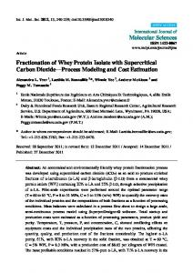 Fractionation of Whey Protein Isolate with ...
