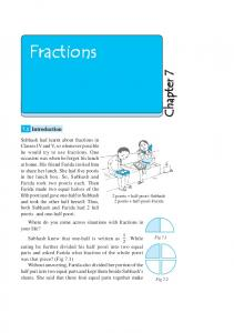Fractions - NCERT BOOKS and CBSE BOOKS