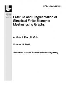 Fracture and Fragmentation of Simplicial Finite Elements Meshes ...