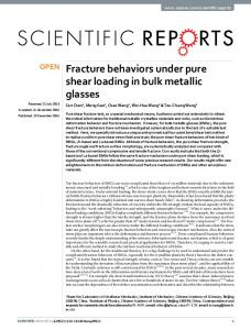 Fracture behaviors under pure shear loading in