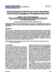 Fracture Response of Reinforced Concrete Deep Beams Finite ...