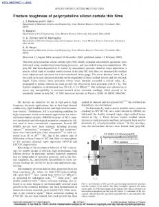 Fracture toughness of polycrystalline silicon carbide thin films