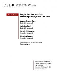 Fragile Families and Child Wellbeing Study