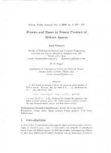 Frames and Bases in Tensor Product of Hilbert Spaces - arXiv