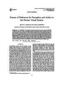 Frames of Reference for Perception and Action in the ... - CiteSeerX